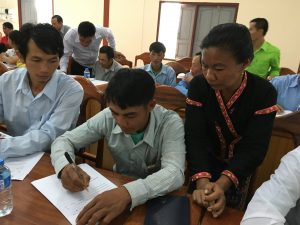 A consultation workshop on farmer networking in Xay district, Oudomxay province